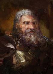 Dragon Age: King Endrin Aeducan in battle gear by IgorLevchenko