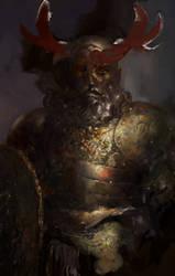 Icewind dale: Dwarf cleric of Bane by IgorLevchenko
