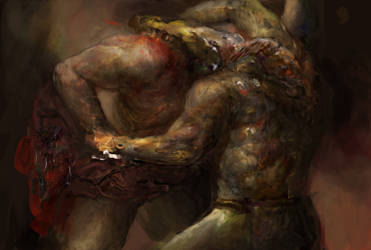 Morrowind: wrestling Daedra by IgorLevchenko