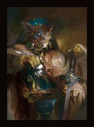 ESO: portrait of an argonian mercenary