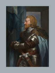 Skyrim: Portrait of Skarin (the Stormcloak)