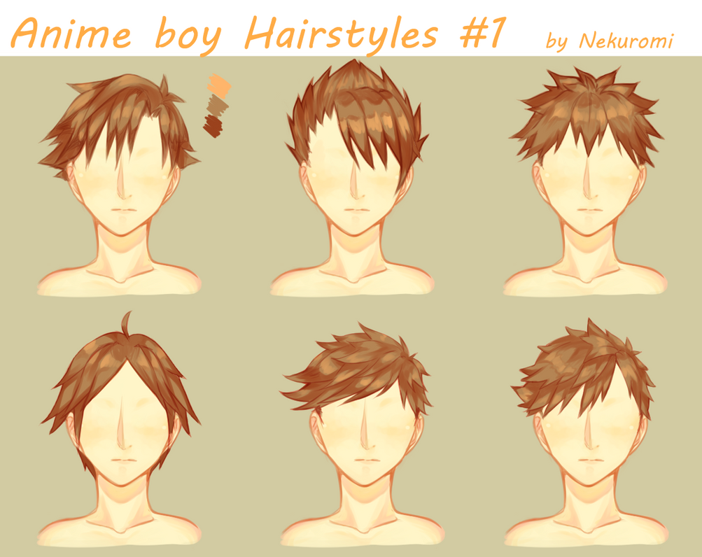 Anime Boy Hairstyles #1 By Nekuromii On DeviantArt
