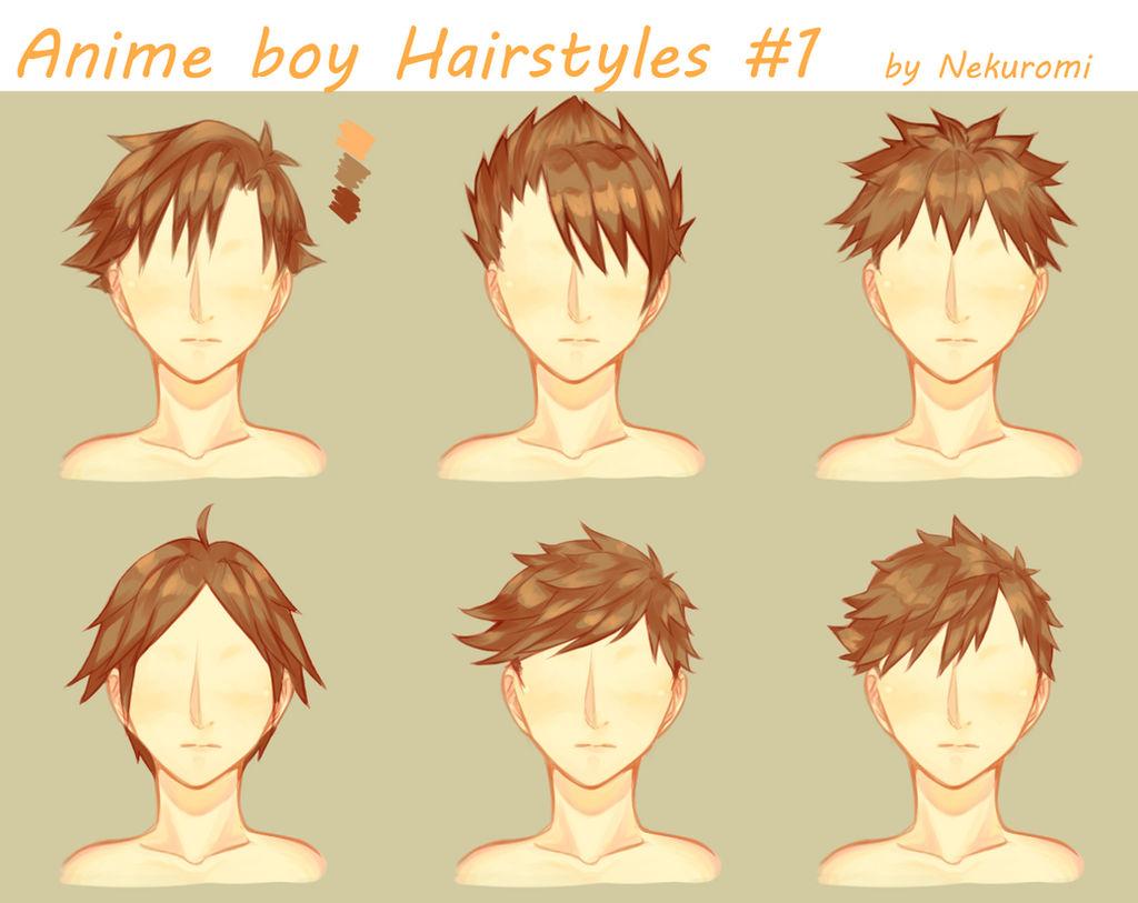 Anime Boy Hairstyles 1 By Nekuromii On Deviantart