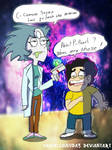 Pearl-Rick and Steven-Morty