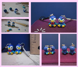 Piplup Couple Charm Set