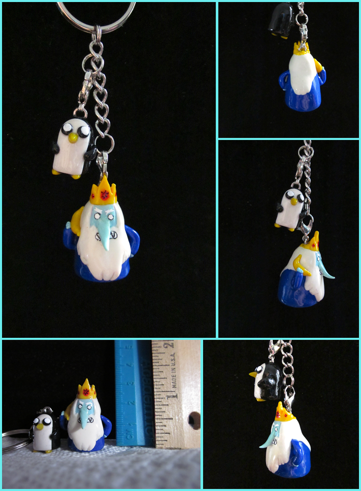 Ice King and Gunter Keychain by minnichi
