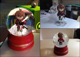 Art Trade with Nazgullow: Souji Okita Snow Globe
