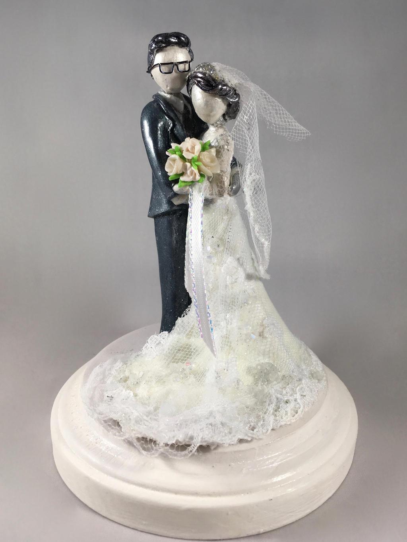 Artist Wedding Cake Toppers : Custom Wedding Cake Topper 2 by minnichi on DeviantArt