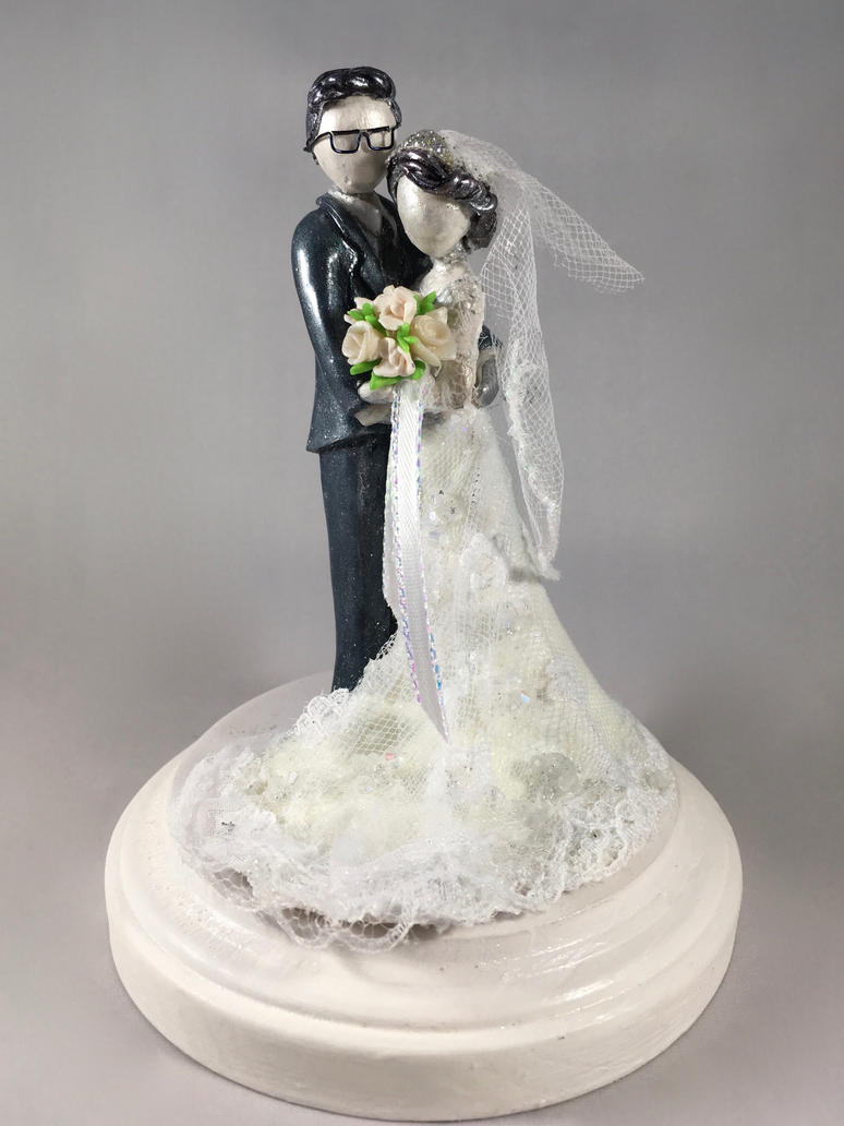 custom wedding cake topper 2 by minnichi on deviantart. Black Bedroom Furniture Sets. Home Design Ideas
