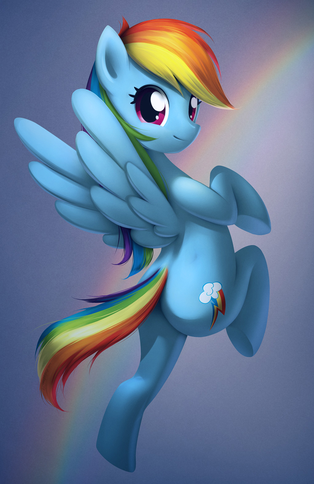 Rainbow Dash by Google-Moogle