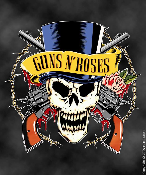 Skull Guns N' Roses By Felipelessa On DeviantArt