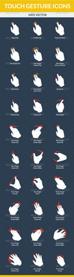 Touch Gesture Icons by felipelessa