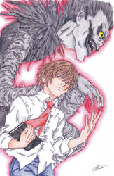 Light and Ryuk-colored