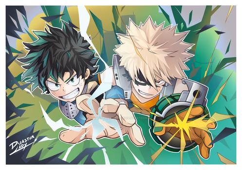 Deku and Bakugo