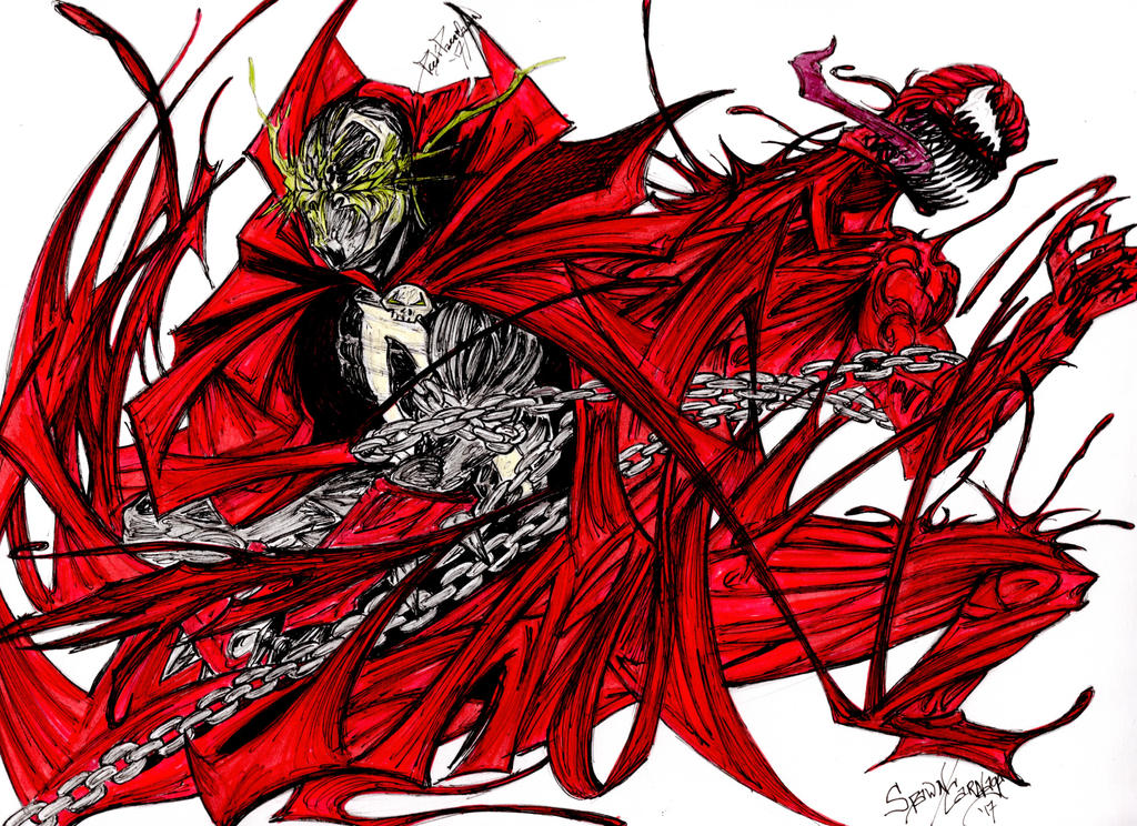 carnage cape spawn by peedipaccmann on deviantart