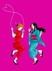 SSS6 - Kagura and Soyohime by kasutera