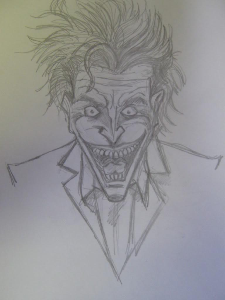 Joker portrait pencil sketch by ditch scrawls on deviantart