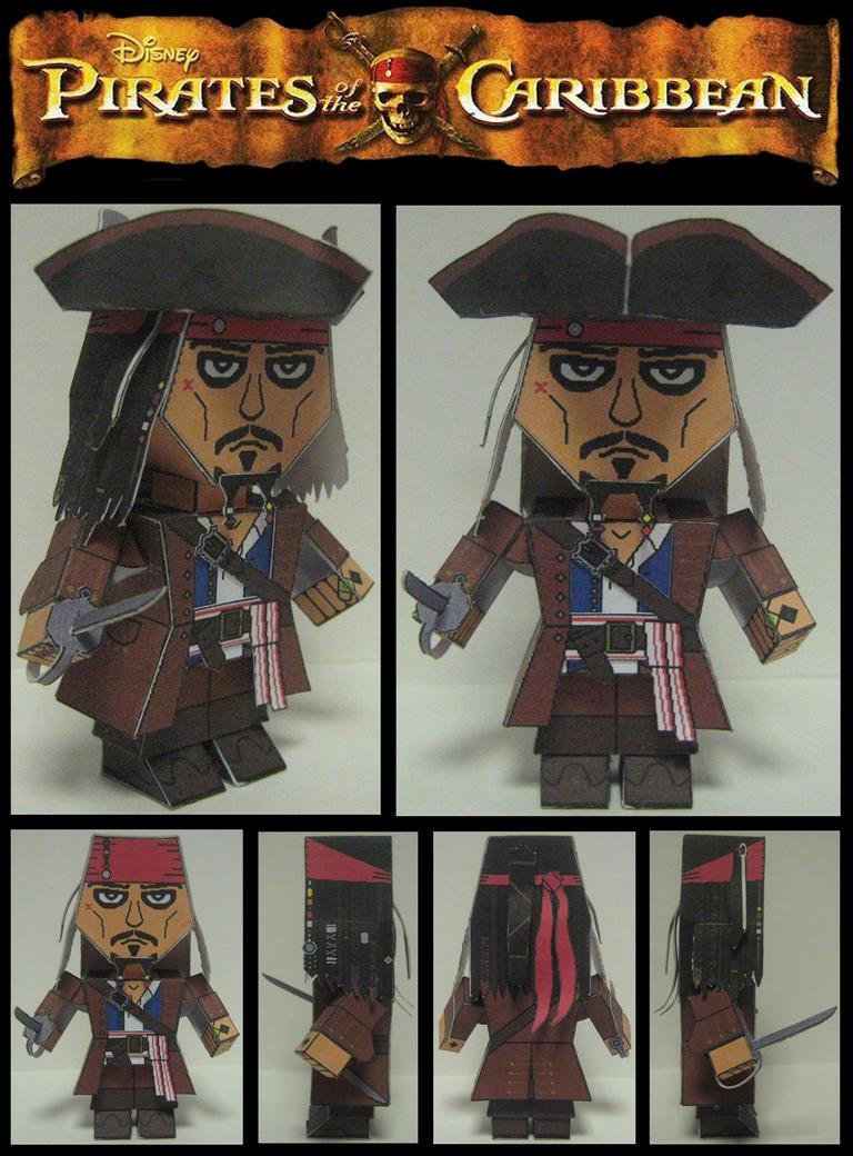 Jack Sparrow Paper Model by Ditch-scrawls