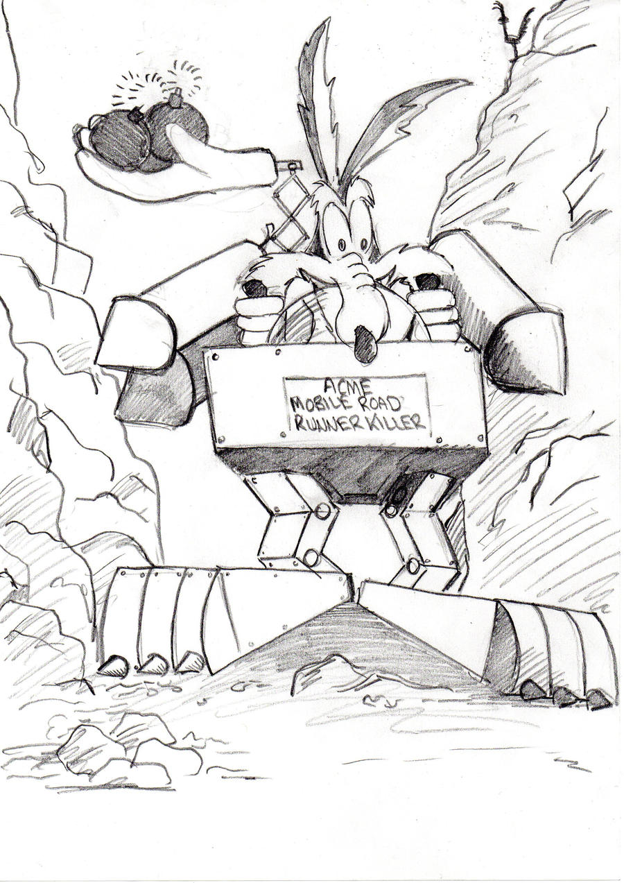 Wile E Coyote by Ditch-scrawls on DeviantArt