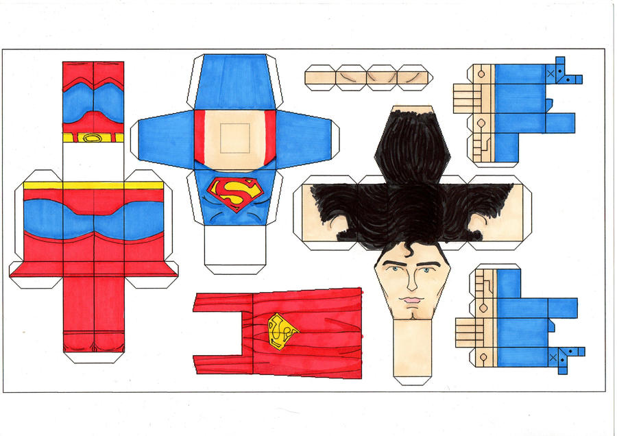 Superman 78 paper toy template by Ditch-scrawls on DeviantArt
