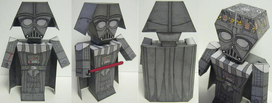 Darth Vader paper toy prototype by Ditch-scrawls on DeviantArt