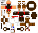Jack Sparrow paper toy template