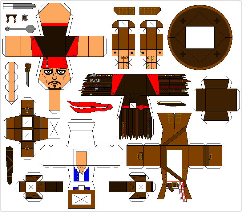 Jack Sparrow paper toy template by Ditch-scrawls on DeviantArt