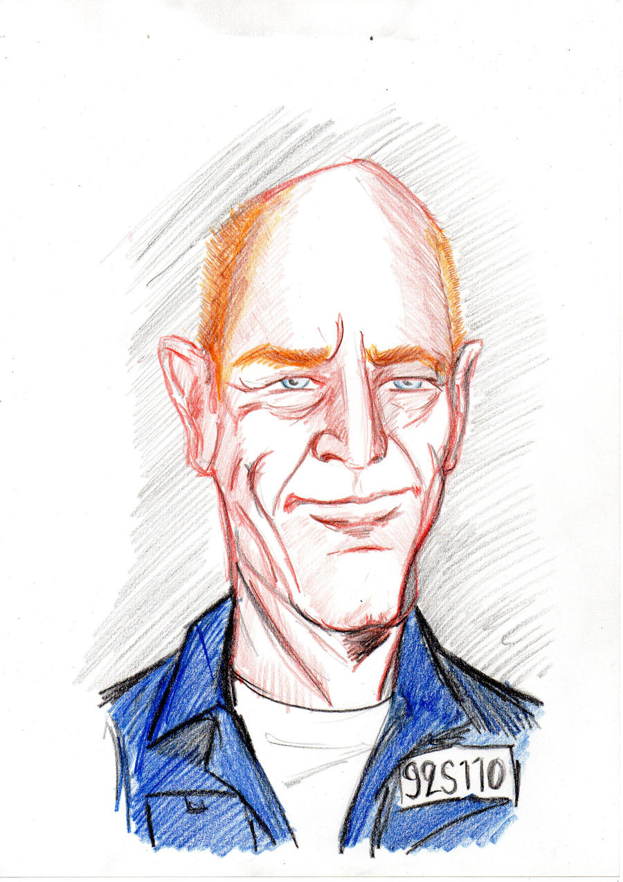 Vern Schillinger from Oz caricature