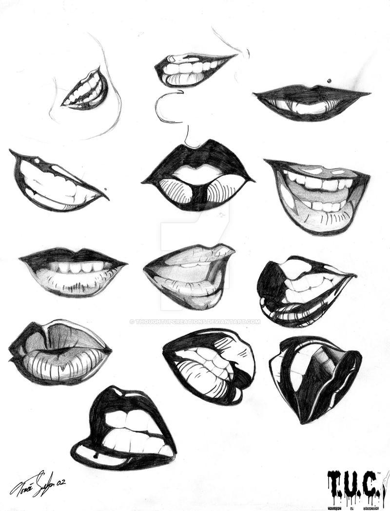 easy cartoon lip