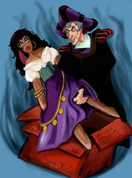 Frollo's Lonely Night by Miki-