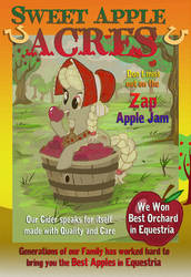 MLP FIM Sweet Apple Acres Ad  - Young Granny Smith by Miki-