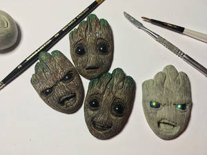 Guardian of the Galaxy Groot Pin sculpts