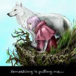 Wolf's Rain Kiba and Cheza by Miki-