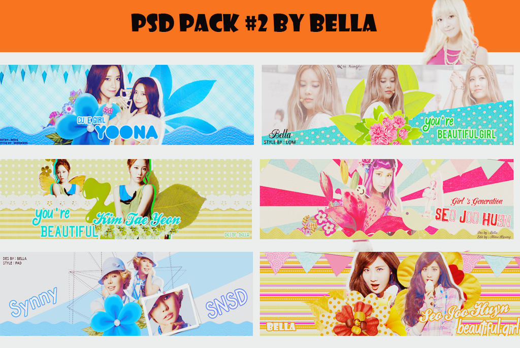 PSD Pack #2 by Bella by yennhi106