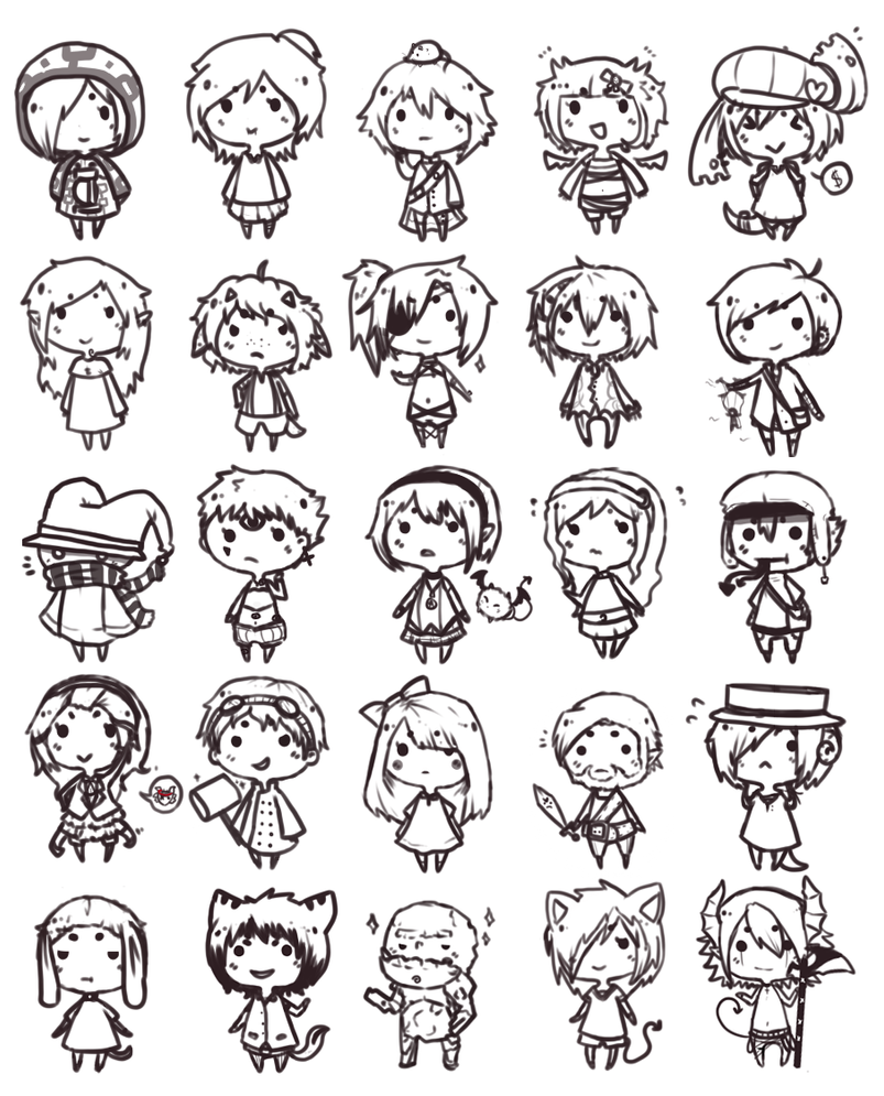 kawaii template drawing boy chibi pictures www