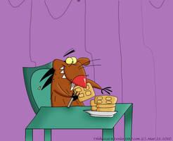 Dag Eats Waffles by TrishaKat