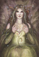 Lady of the Forest by JannaFairyArt