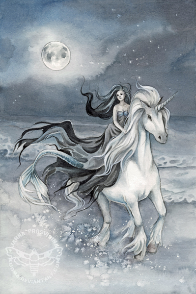 Midnight Ride by JannaFairyArt