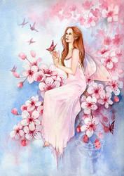 Cherry Blossom by JannaFairyArt