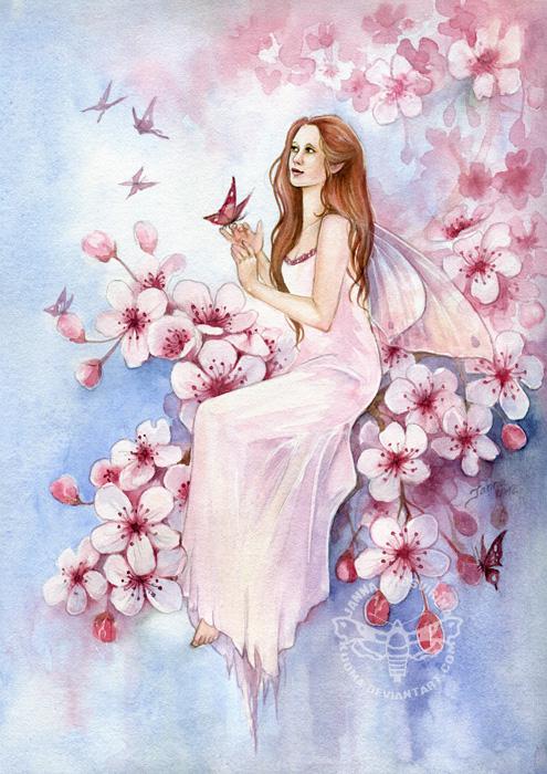 spring fairy wallpaper