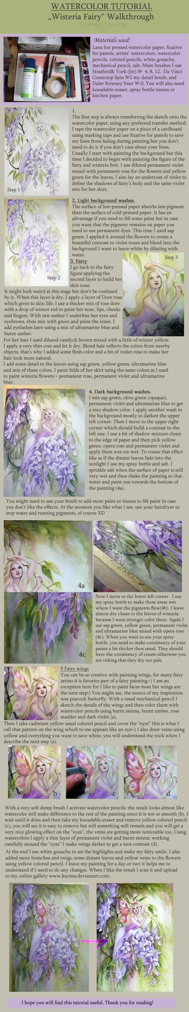 Watercolor Tutorial 2 by JannaFairyArt