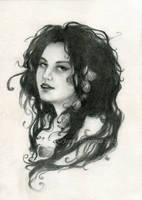 Sea Witch sketch by JannaFairyArt
