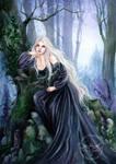 Black Foxgloves by JannaFairyArt