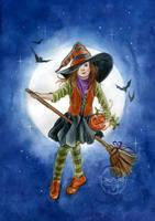 Sweet Witch by JannaFairyArt