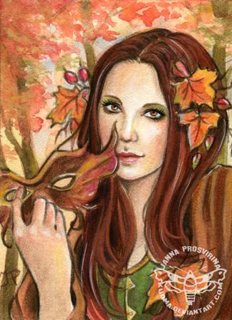 Seanna (ACEO ) by JannaFairyArt