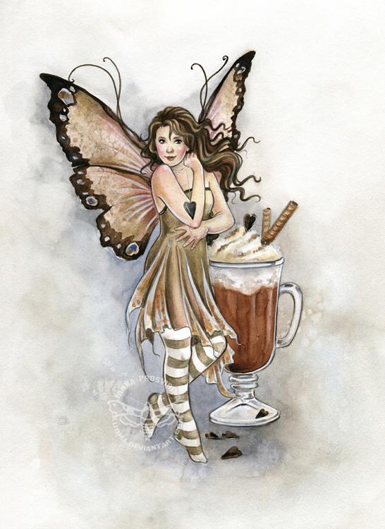Hot Chocolate Fairy by JannaFairyArt