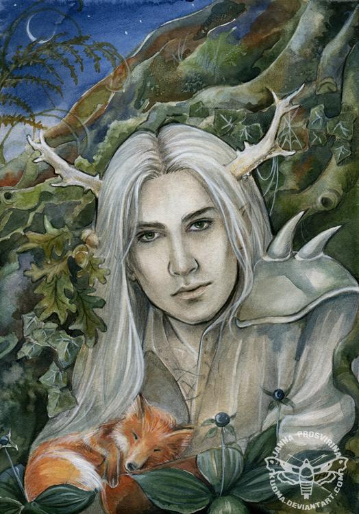 The Stag Prince by JannaFairyArt