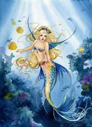 Daughter of the Ocean by JannaFairyArt