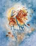 Autumn Moon Fairy by JannaFairyArt