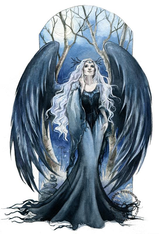angel of night by jannafairyart on deviantart